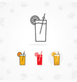 cold drink icon flat of juice vector image vector image