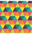 Colorful creative triangle pattern vector image vector image