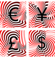 Design currency icons set vector image vector image