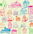 Design set Child Like Drawn Houses vector image