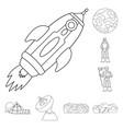 design space and galaxy symbol vector image