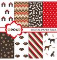 Dog Scrapbooking Paper Set vector image vector image