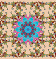 doodle seamless pattern with ethnic mandala vector image
