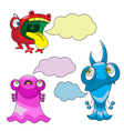 Emotions - monsters vector image
