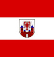 flag of cottbus in brandenburg germany vector image vector image