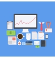 Flat design modern icons set of business vector image