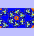 floral seamless pattern in blue color vector image