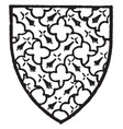 giffard bore gules with an engrailed fret of vector image vector image