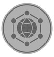 global frame silver coin vector image vector image