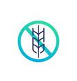 gluten free icon no grain vector image