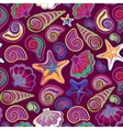 Graphic pattern with seashells sea stars Hand vector image vector image