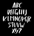 hand drawn retro calligraphy font modern brush vector image
