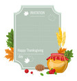 hand drawn thanksgiving greeting card with maple vector image vector image