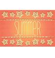 Hawaiian-style summer card vector image vector image