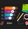 info graphics business template concept vector image vector image