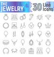 jewelry thin line icon set accessory symbols vector image