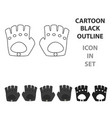 leather gloves icon of for web vector image