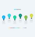 light bulbs infographic template 6 steps