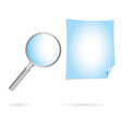 magnification glass and doc bluejpg vector image vector image