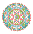 mandala doodle color vector image vector image