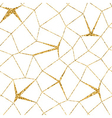 Mosaic geometric seamless pattern 3D gold white 1 vector image vector image