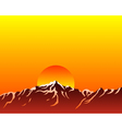 mountains with sun vector image vector image