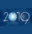 new year 2019 with white vector image vector image