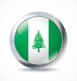 Norfolk Island flag button vector image
