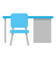office desk and chair vector image vector image