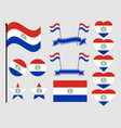 paraguay flag set collection of symbols flag vector image vector image
