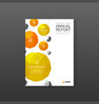 pharmaceutical brochure cover template vector image