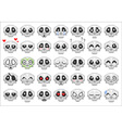 pixel skull smiley icons set vector image
