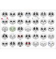 pixel skull smiley icons set vector image vector image