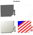 Providence Map Icon Set vector image vector image