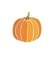 pumpkin icon isolated on white vector image vector image