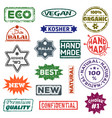quality label best badge symbol of vector image