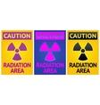 radiation hazard sign vector image vector image