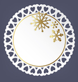 Round card with snowflakes vector image vector image