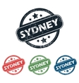 Round Sydney city stamp set vector image vector image