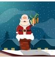 Santa Claus In Chimney Funny vector image