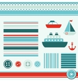 sea theme elements for scrapbooking vector image vector image