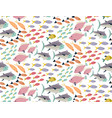 seamless pattern with different colorful vector image