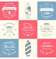 Set of Surf Logo and Badges vector image vector image