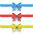 set of three bows multi-colored vector image