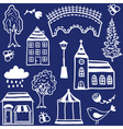 Small town design elements vector image vector image