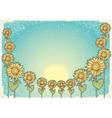 sunflower vintage background vector image vector image