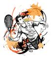 tennis vector image