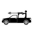 terrorist pickup car with machine gun and vector image vector image