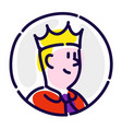 the man is manager in crown flat icon vector image vector image