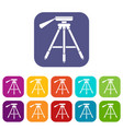 tripod icons set vector image
